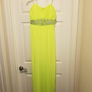 Long Yellow Formal Gown